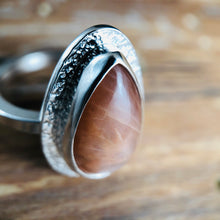 Arena Ring-Peach Moonstone