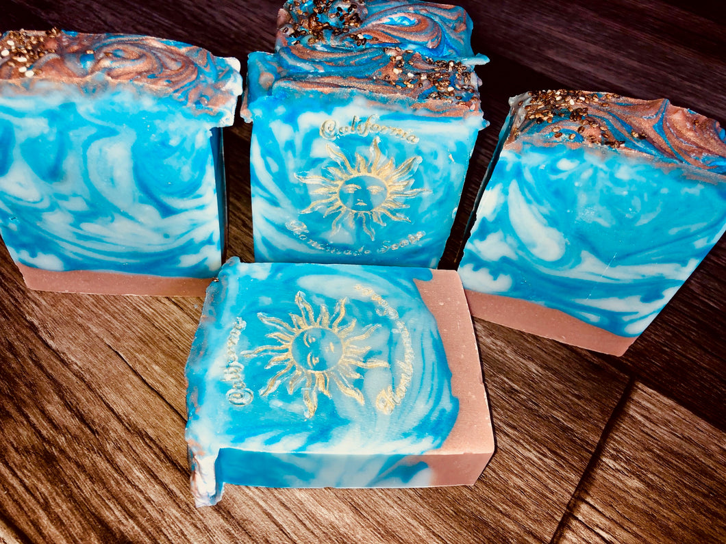 His Blue Suede Hemp Soap with Oatmeal & Goats Milk by California Handmade Soaps