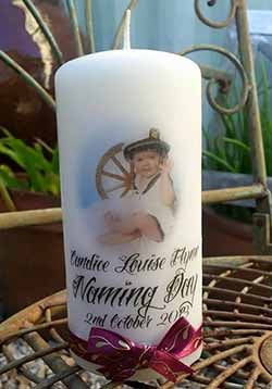 Decorate a candle with Art Shed Angel