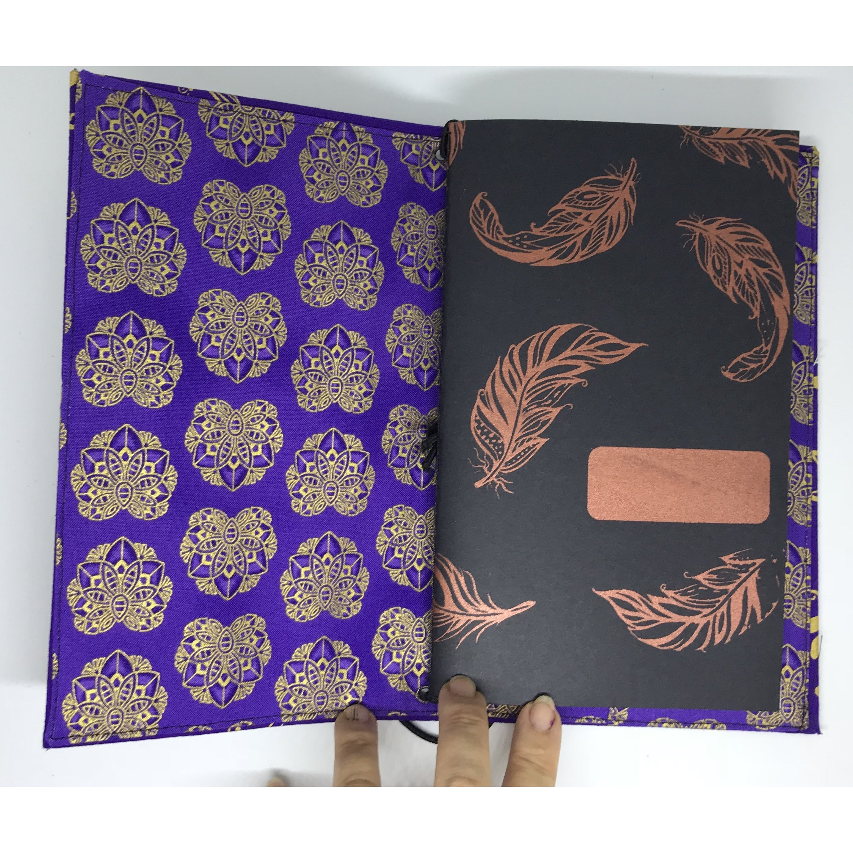 Dragonfly Hand Screen Printed Art Journal Cover With Handmade Book Art Shed Angel Papercrafts