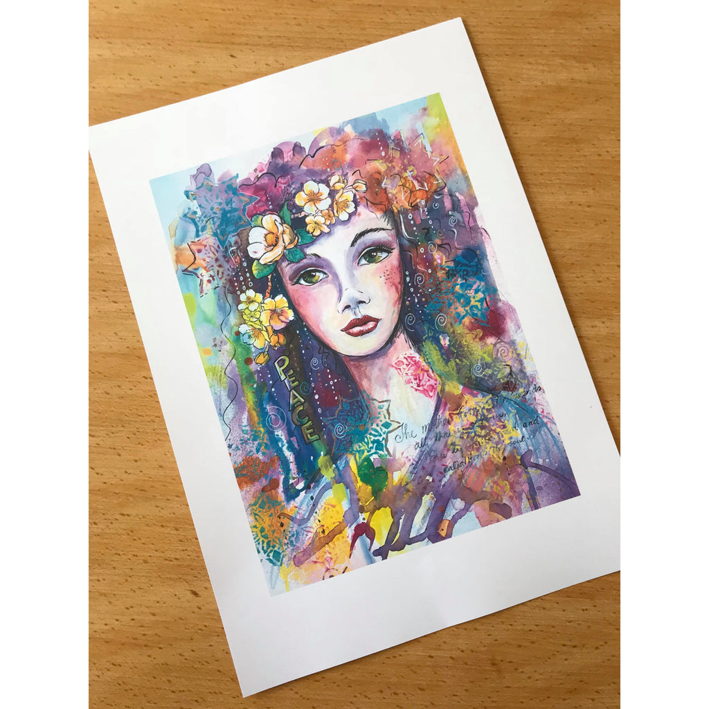 Goddess of peace 8 x 11 inch  300 dpi printable