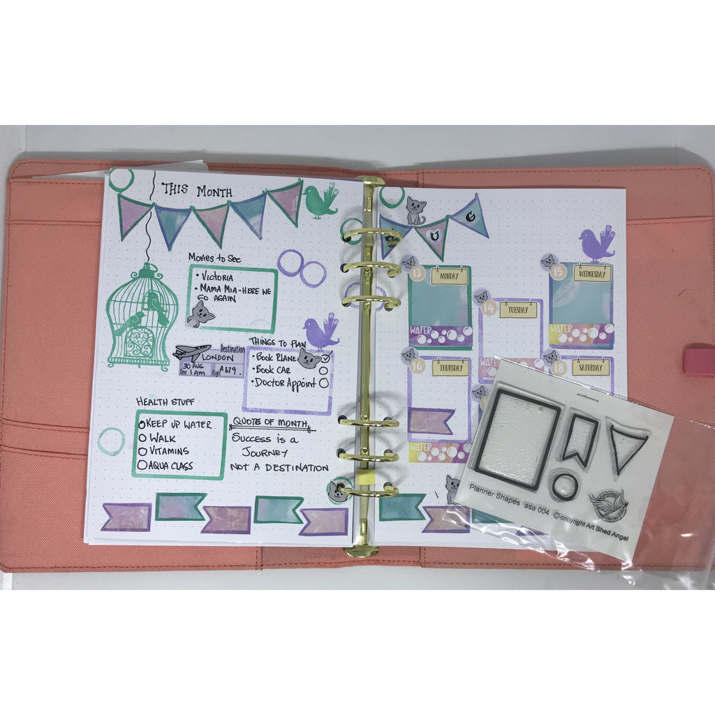 Planner stamps Shapes asa004