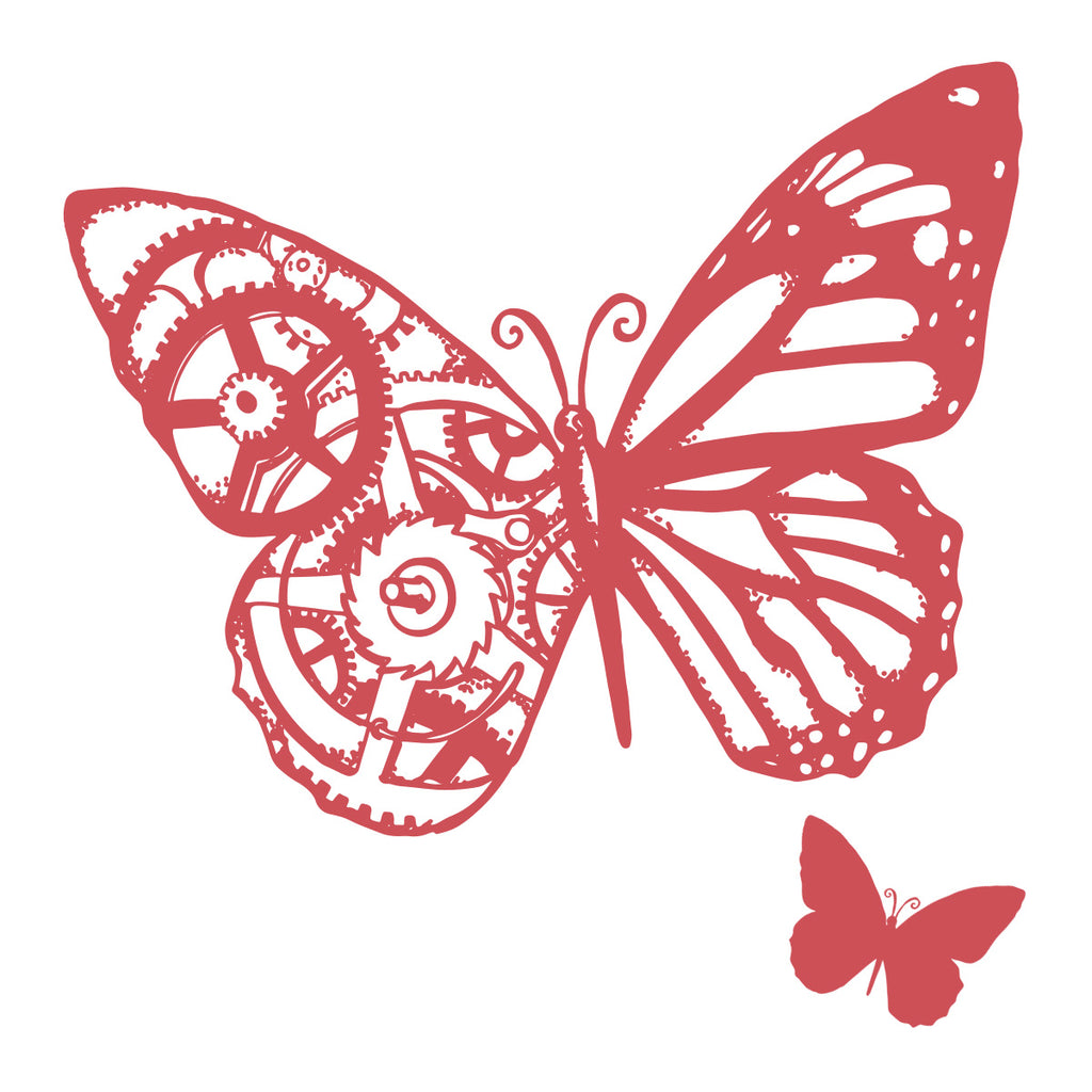 Large Butterfly Stamp