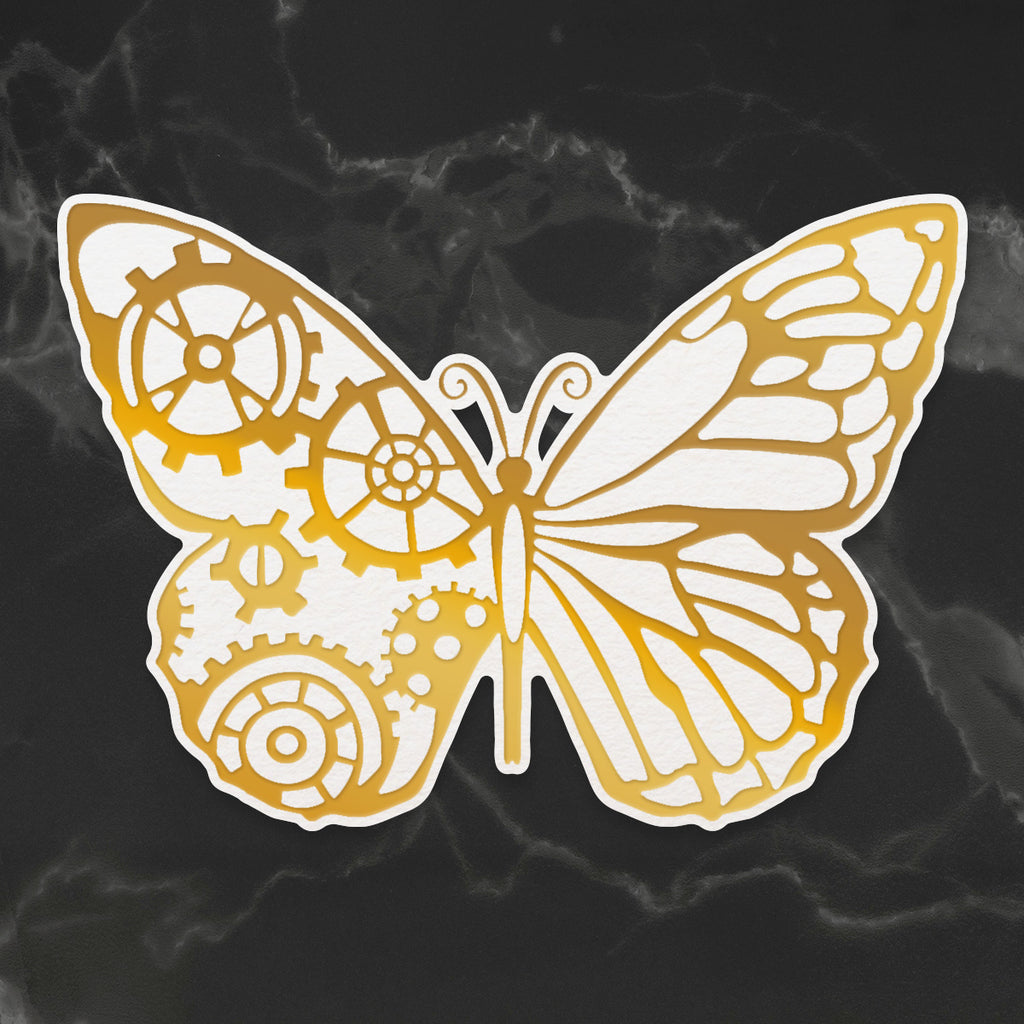 Large Steampunk Butterfly- Cut and create die large