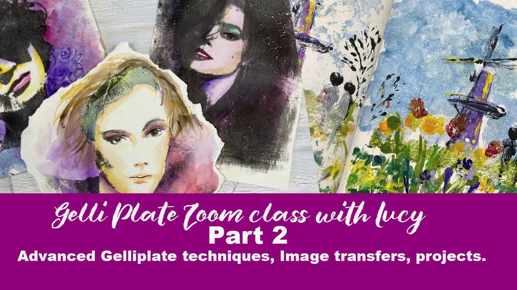 Gelliplate online class part 2 Image transfers and projects