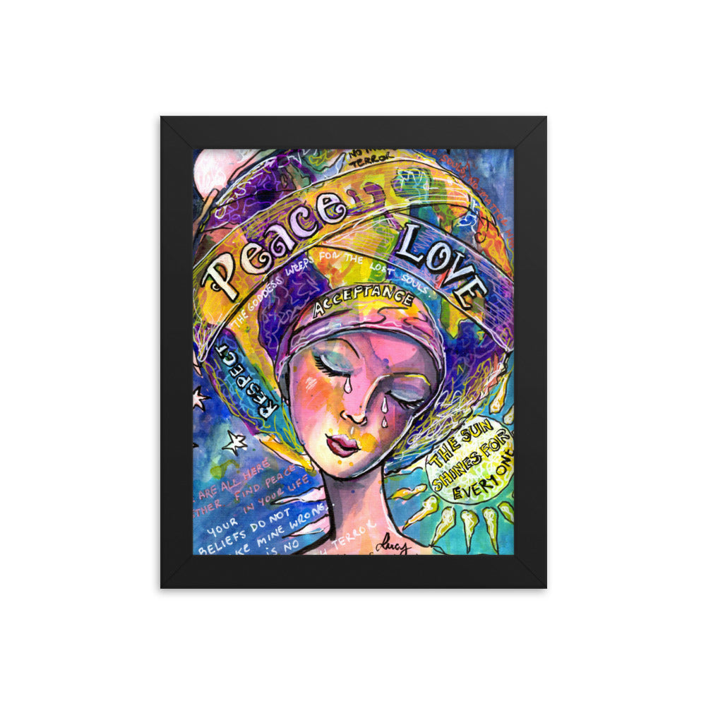 Peace and Love goddess print