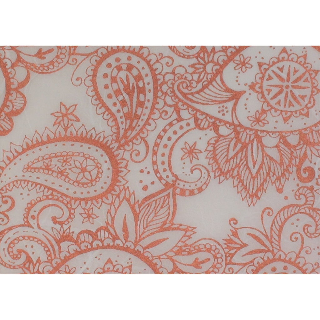 Copper Paisley printed Mulberry Paper (Art Shed Angel Designed)