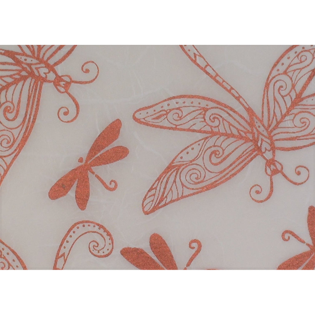 Copper Dragonfly printed Mulberry Paper (Art Shed Angel Designed)