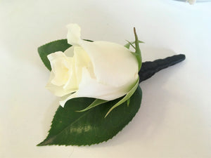 *Please call us to order* White Rose Buttonhole