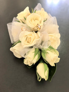 *Please call us to order* White Rose Corsage