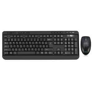 Adesso WKB-1320CB-UK Antimicrobial 2.4ghz Wireless Desktop Keyboard & Mice