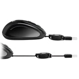 Adesso iMouse™ S8B Black USB Retractable Mini Mouse