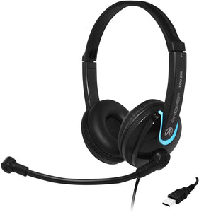 Andrea Communications EDU-255 USB On-Ear Stereo Mobile Headset