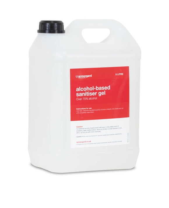 Armorgard DR570 5 Litre 75% Alcohol Based Sanitiser Gel