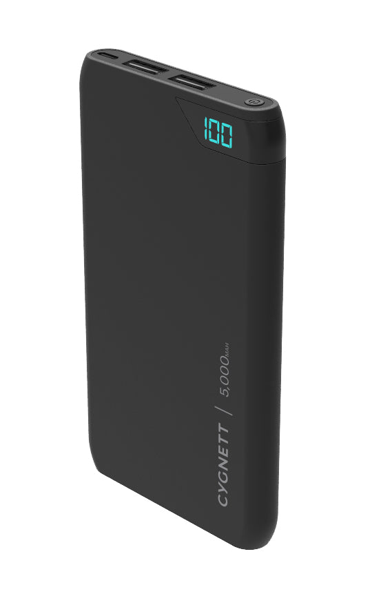 Cygnett ChargeUp Boost 5,000 mAh Dual USB 2.4A Powerbank