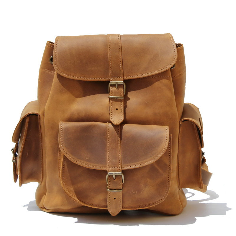 8dc9c095b8 Handmade Leather Backpack with 100% genuine leather