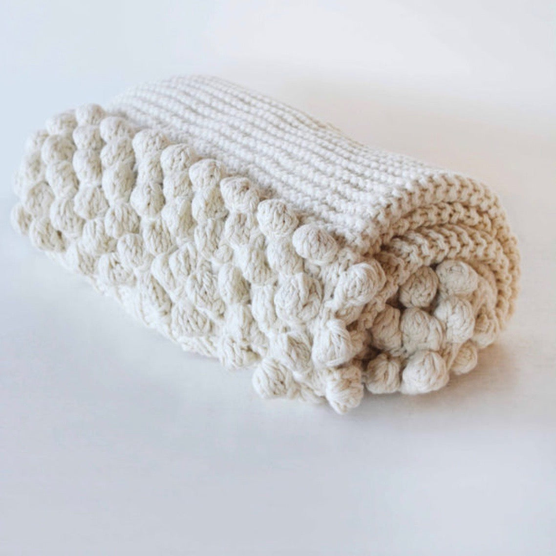 Luxury Aran Bed-end Throw Blanket