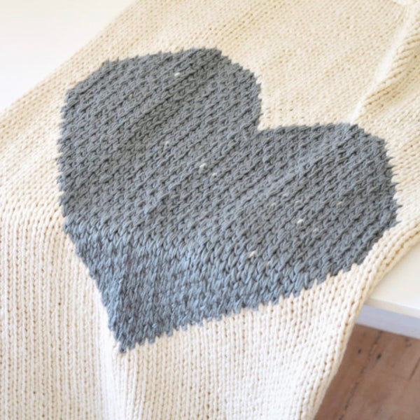 Luxury Heart Throw Blanket