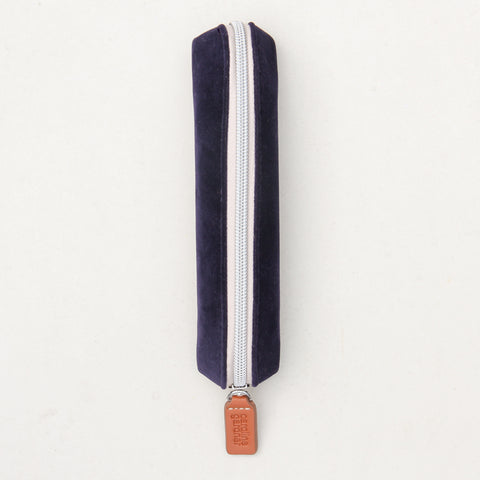 Navy Velvet Pencil / Make-up Case