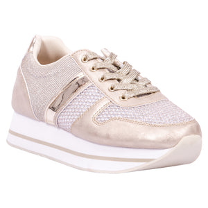 Saint & Summer Sporty Gold Sneaker Echo