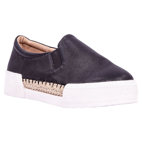 Saint & Summer Black Slip-on Loafer Enigma