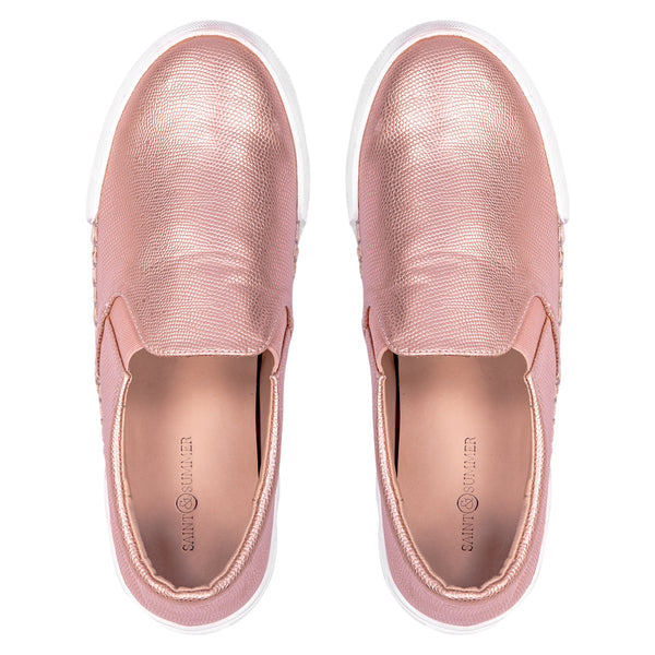 Saint & Summer Rose Gold Slip-on Loafer Enigma