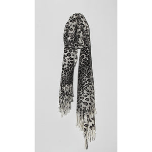 Monochrome animal print scarf