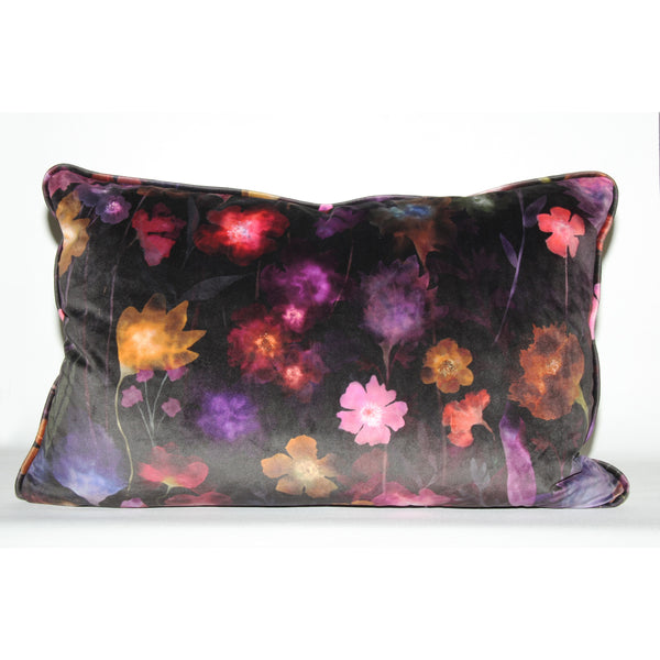 Limited Edition luxury floral velvet scatter cushion 60x40