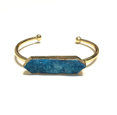 Gold Druzy Cuff Bracelet - Infinity Headbands by Ambrosia Designs