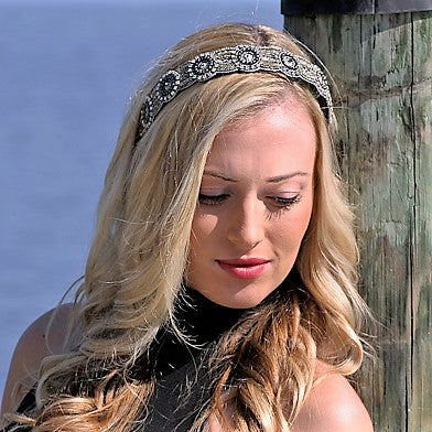Ashley Beaded Headband - Infinity Headbands by Ambrosia Designs