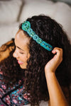 hand beaded turquoise fashion headband