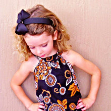 Black Headband Cover with Black Bow