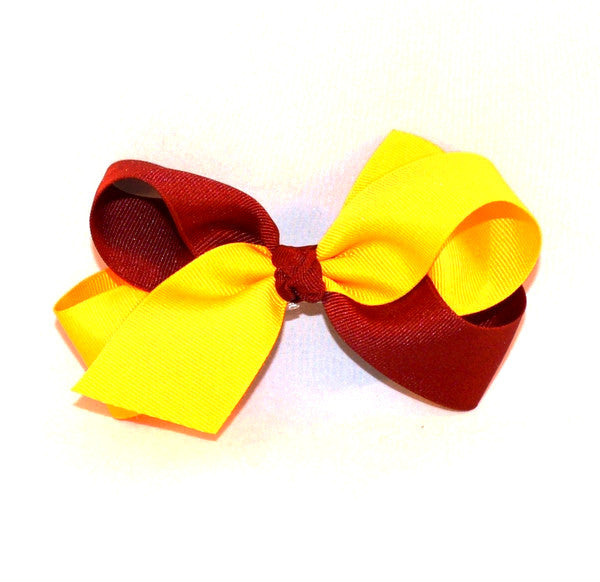 Garnet and gold bow, FSU bow, Girls bow