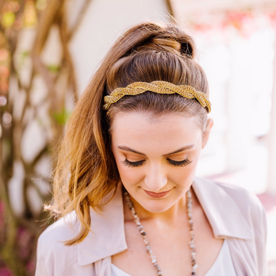 Gold braided headband