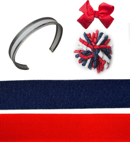 4th of july headbands, headband sets, interchangeable headbands, infinity headbands, red white and blue headband, Star Spangled Spectacular Bundle headband set