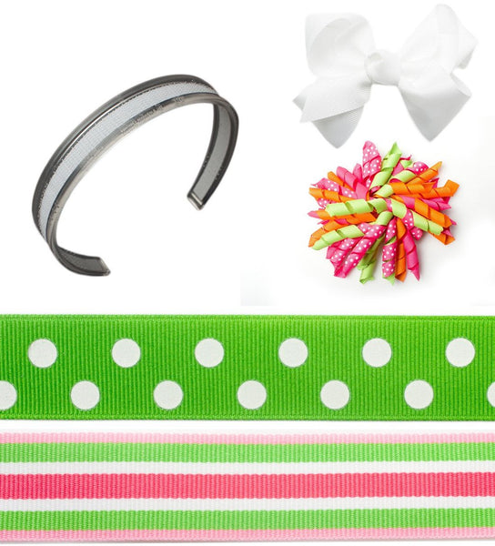 interchangeable headband, headband set, infinity headbands, green headbands, Spring Fling Bundle