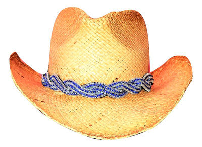 Kaylie Blue and white western Hat Band