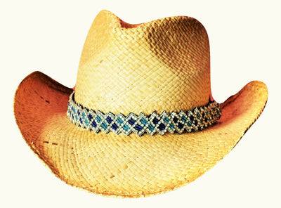 Meghan Blue and Turquoise Cowboy Hat Band