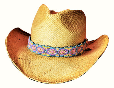 Molli Pastel Beaded Cowboy Hat Band