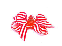Christmas Bows, Gingerbread Girl Bow, red striped bow,