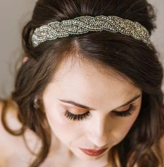 womens silver fashion headband