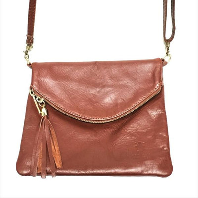Soft Leather Handbag Dark Brown