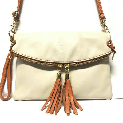 bone colored handbag, leather purse, italian handbag