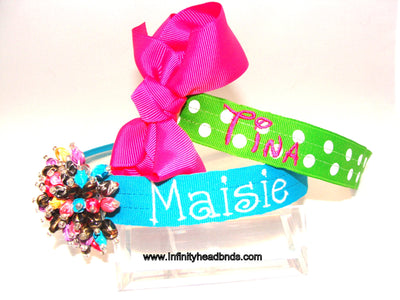 Custom Embroidery for Classic Infinity Headband Covers - Infinity Headbands by Ambrosia Designs