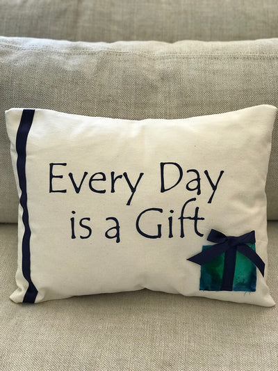 Every Day Is A Gift Pillow - Infinity Headbands by Ambrosia Designs