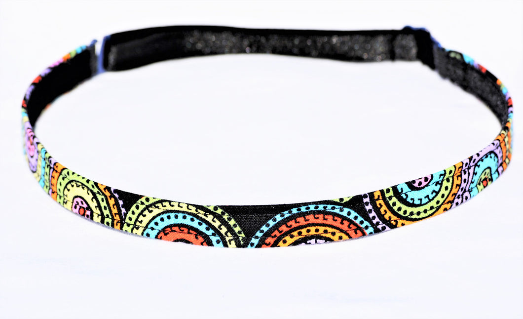 fitness headband, ajdustable headband, black headband