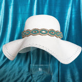 Sun hat band Alexa, Turquoise hat band