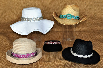 Adjustable beaded hat bands