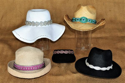 hat bands, hat accessories on hats
