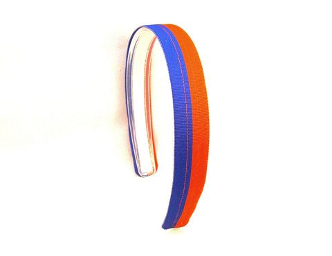 Royal Blue & Orange Headband, UF headband, Infinity Headband, Florida gators headband